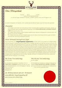Laird Urkunde Deutsch