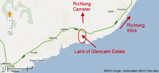 Lageplan der Glencairn Estates