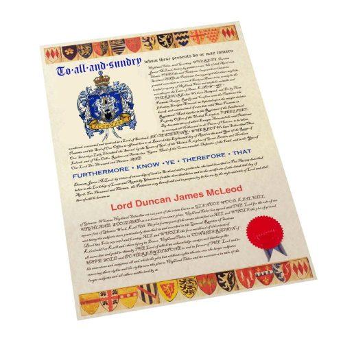 Lochaber Coat Of Arms