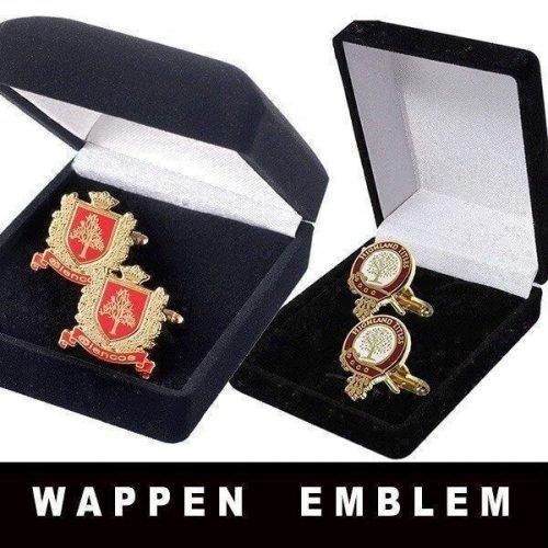 Glencoe Wappen und Highland Title Emblem Manschettenknöpfe