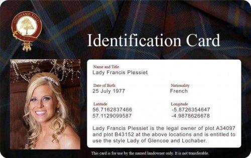 Persönliche Identitätskarte