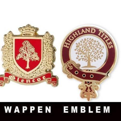 Glencoe Wappen & Highland Titel Emblem